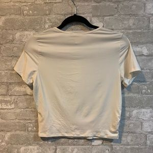 Live in the Moment Tops - Live in the Moment Juniors M White Cropped Tee